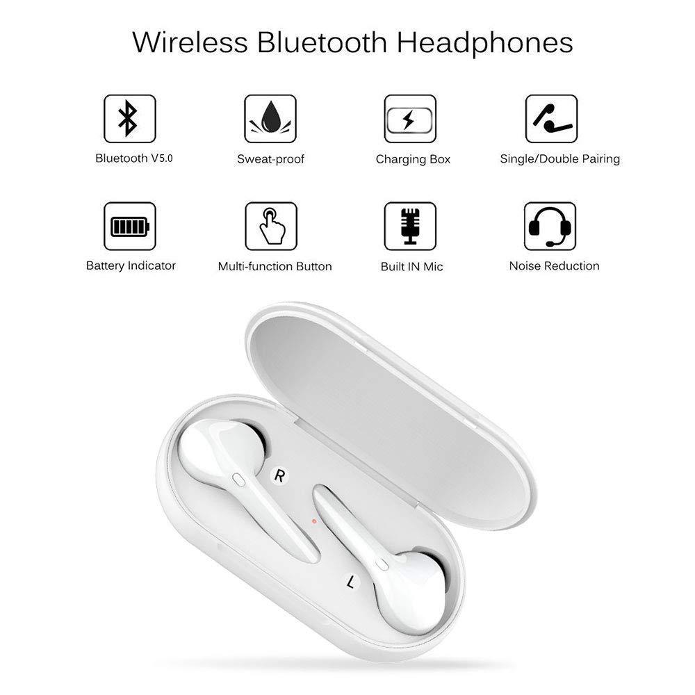 Auricolare Bluetooth stereo X10 Mini Auricolari Senza Fili Sportivo Cordless con scatola di ricarica Portatile Compatibile con tutti i dispositivi Cuffie Bluetooth 5.0
