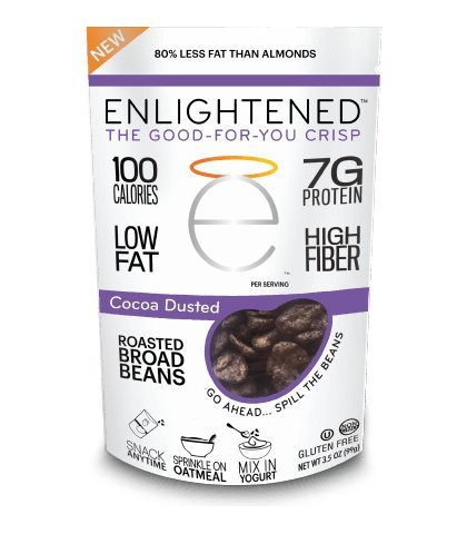 (Enlightened Roasted Broad Bean Crisps - Cocoa Dusted 4.5 oz / 6-Pack)