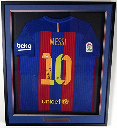 "Lionel ""Leo"" Messi Autographed Framed Barcelona Qatar Air..."