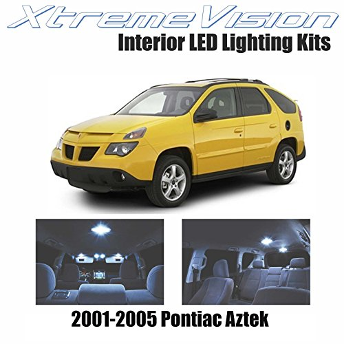 (XtremeVision Interior LED for Pontiac Aztek 2001-2005 (7 Pieces) Cool White Interior LED Kit + Installation)