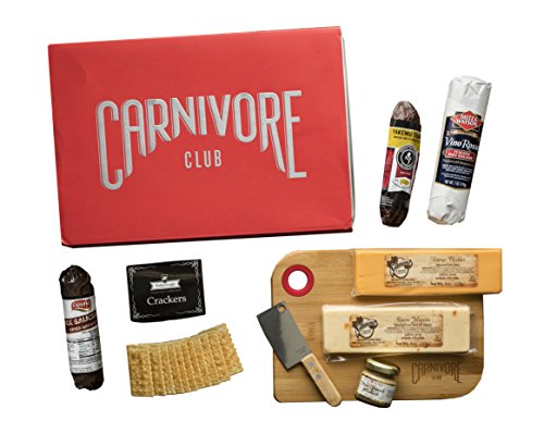 Carnivore Club Meat and Cheese Gift Box - Food Basket - 9 Piece Combo - Comes in a Premium Gift Box - Christmas Gift - Meat and Cheese Sampler