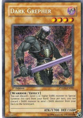 Yu-Gi-Oh! - Dark Grepher (PTDN-EN000) - Phantom Darkness - - - 1st Edition - Secr... 26e751