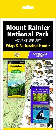 Mount Rainier National Park Adventure Set: Trail Map & Wildlife Guide