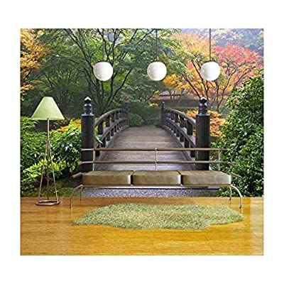 Magnificent Artisanship, Wooden Bridge at Portland Japanese Garden Oregon in Autumn, Crafted to Perfection