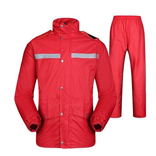 RFVBNM Adult Raincoat rain Pants Suit Split Electric Motorcycle Riding Fishing Suit Outdoor Reflective Raincoat,XL