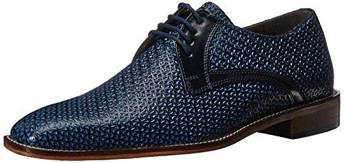 Stacy Adams Men's Rico-Plain Toe Oxford, Blue, 12 M US