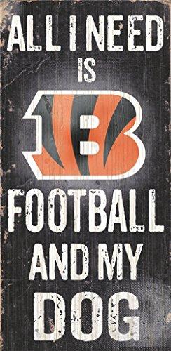 Cincinnati Bengals Wood Sign - Football And Dog 6