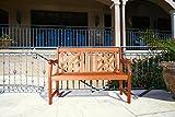VIFAH V445E Outdoor Two Person Bench, Atlantic