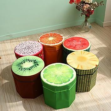 Style Eva Folding Fruit Seat Storage Footstool (Multicolour and Design)