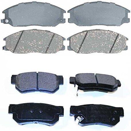 Auto Shack SMK864-813 Front and Rear Semi Metallic Brake Pad Bundle