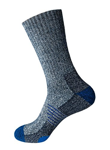 Wantdo Men's Comfort Wicking Thermal Cushioned Bamboo Breathable Casual Outdoor Crew Socks - Bamboo Chair Fabric
