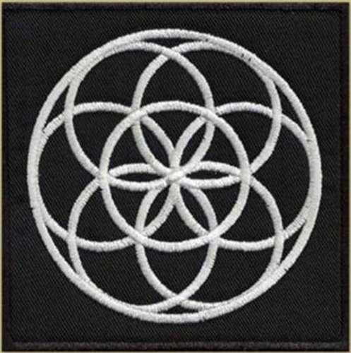 Flower of life - Emroidered Patch, BUY 3 GET 4, 3,2 X 3,2 (INCHES)