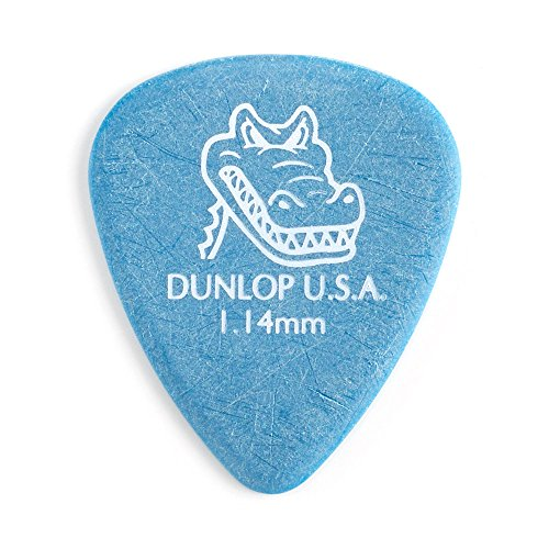 Grip Standard Picks - Dunlop 417R1.14 Gator Grip, Blue, 1.14mm, 72/Bag