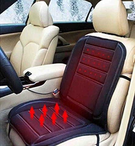 Yosoo 12V Car Heated Seat Cushion Cover Warmer Pad In Winter (Black)