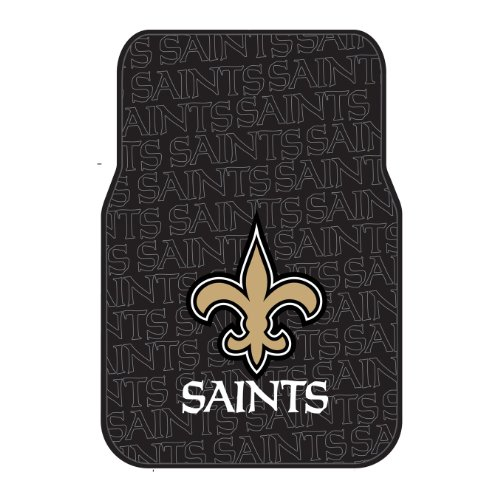 Saints OFFICIAL National Football League, 25.5 x 17.5 Car Floor Mat Set (Pair of 2) by Northwest Official
