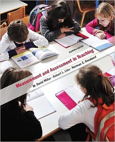 Miller, linn & gronlund, measurement and assessment in teaching.