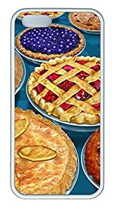 iPhone 5 5S Case Thanksgiving Pies TPU Custom iPhone 5 5S Case Cover White