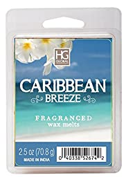 Hosley\'s Caribbean Breeze Scented Wax Cubes / Melts - 2.5 oz. Hand poured wax infused with essential oils
