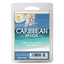 Hosley's Caribbean Breeze Scented Wax Cubes / Melts - 2.5 oz - Hand poured wax infused with essential oils. Perfect for everyday use, wedding, events, aromatherapy,Spa, Reiki, Meditation.