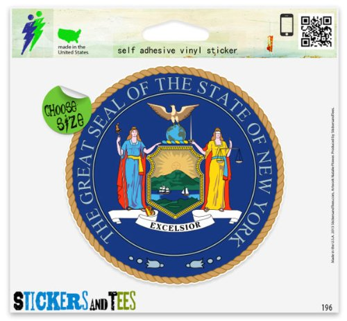 New York State Seal Car Sticker Indoor Outdoor 4