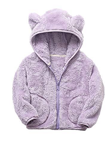 iChunhua Baby Kids Girls Long Sleeve Autumn Winter Hooded Coat Jacket 3T/100CM Purple