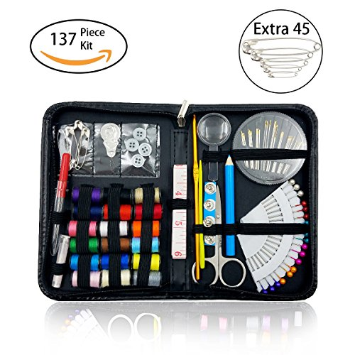 Review Sewing Kit Over 130 Premium Sewing Supplies for Travel Home Beginners Adults Kids Girls Emerg...