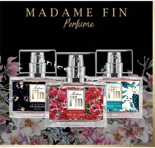 3pcs,Madame Fin Perfume Eau de Parfum Premium Quality Product 30 ml./60-90days (FIN IN BLACK+MORE FINN+FIN IN LOVE) By PNICE PERFECT