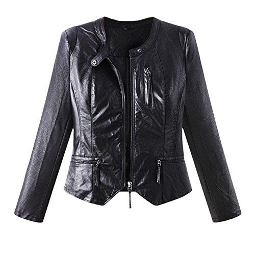 COAT Zipper XXXL DYF Color Coat sleeve Round Black Long Collar Solid Pocket FYM Jacket Slim 4gxSdRSq