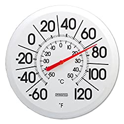 Springfield Big and Bold Low Profile Patio Thermometer (13.25-Inch)