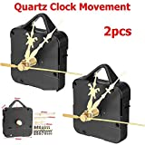 Cacys-Store - Silent Quartz Clock Movement Replace Repair Parts Kit with Gold Digital Card Hour Minute Second Hand DIY