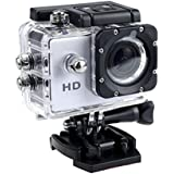 1080P Action Sports Camera -Self Timer,Tuscom Waterproof ( 30 Meters Under Water) Action Camera (2.0 Inch Ultra HD Screen)Camcorder HD 1080P Mini DV Cam+ Parts for Gopro (White)