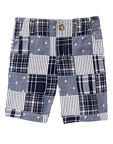 Gymboree Boys' Big Patchwork Shorts, Multi, 7