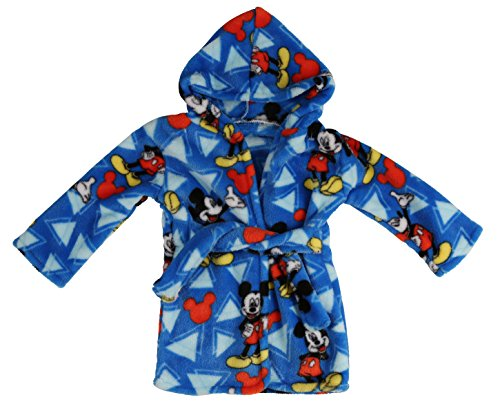 Disney Mickey Mouse Flannel Fleece Robe, Blue -