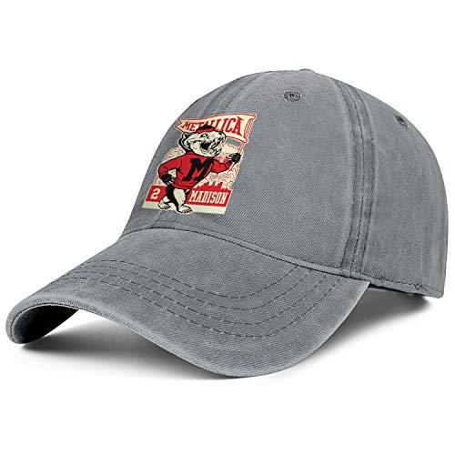 (Adjustable Baseball Cap Strapback Vintage Washed Jeans Dad hat Casual Trucker Hat Unisex-Metal Rock Band Logo)