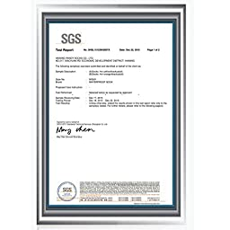 [SGS Certified]RANDY SUN Women\'s Waterproof & Breathable Hiking/Trekking Socks White & Yellow & Green Small