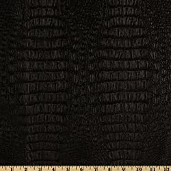 Plastex Fabrics CW-701 Faux Leather Gator Black