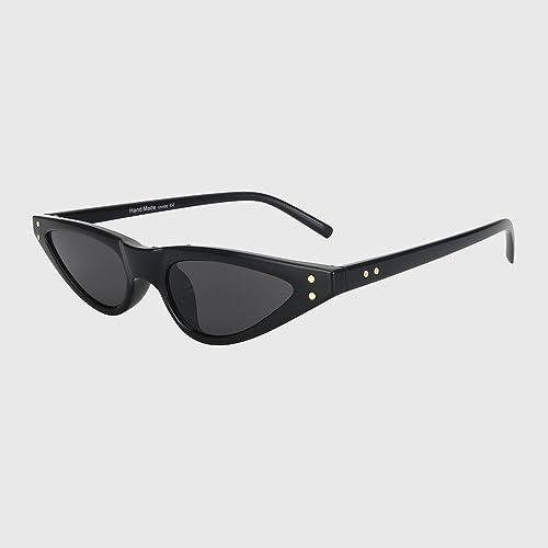 KLXEB Katzenaugen-Vintage Sonnenbrille Frauen Und Klassische Marke Kleine Design Sonnenbrille Weiblichen S.A.