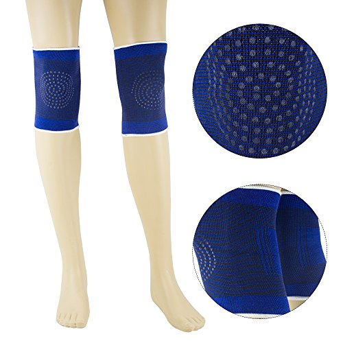 Magnetic Therapy Pad - Vinmax 1 Pair Self-Heating Knee Wrap Magnetic Therapy Warm Knee Brace Sleeve Leg Belt Massager Thermal Pad Health Care for Arthritis Rheumatism Varicose Veins Joint Pain Relief