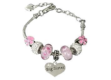 9ea8de3d32d5e Infinity Collection Sister Bracelet -Sister Jewelry- Big Sister Charm  Bracelet, Pink Big Sister Bracelet-...