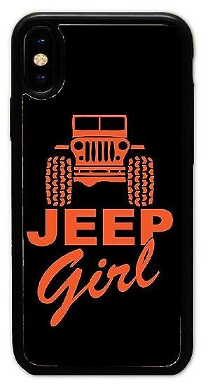 online store 58a7d 44198 Amazon.com: Custom iPhone X Cases - Jeep Girl Hard Plastic Phone ...
