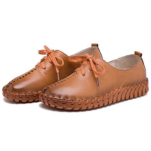 Bronzage Décontractée Confort Maille Femmes Formateurs Caleçon Shenn Cuir Lacets Chaussures qxTAUvwH