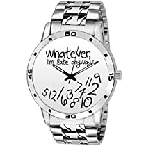 Bigowl White Dial Whatever I am Late Anyway's Men's Watch