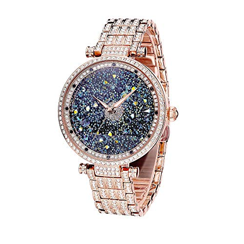 Amazon.com: Princess Butterfly Lady Watch Full Of Austria Crystal HL639P Rose Gold: Watches