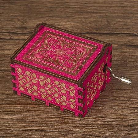 Caja De Música Sky City Hand Harry Potter Christmas Music Box Feliz cumpleaños Rosa roja: Amazon.es: Hogar