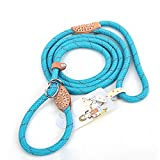 Coolrunner Highly Reflective Nylon Dog Leash Standard Training Adjustable Pet Slip Lead for Small Medium Large Dogs