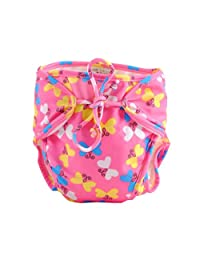 [Butterfly] Adjustable Infant Swim Diaper with Ties, Size Medium