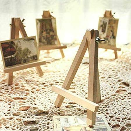 pour mariage anniversaire photos m/émos Pour f/êtes f/ête pr/énatale et bar 3 pcs noms Petit chevalet en bois pour d/écoration de table ou de tableau noir cartes num/éros de table