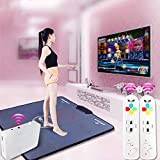 QXMEI Wireless Single Dance Mat TV Computer Dual-use Massage Game Machine 9381CM,Black