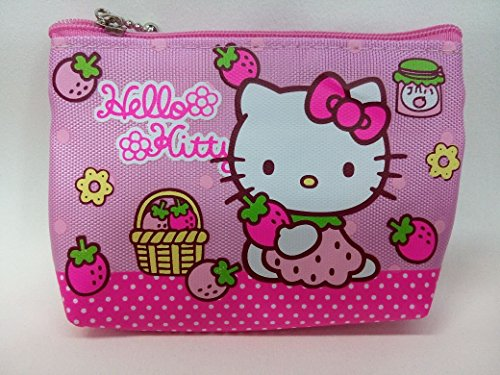 CJB Sanrio Japan Hello Kitty Mini Coin Pocket Pink Strawberry (US -