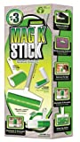 Sticky Master Magic Stick Lint Remover 3 Piece Set Super Sticky Reusable Washable Rollers